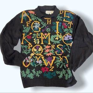 Vintage Alphabet Teachers gift sweater